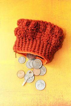 Cute little bobble stitch coin purse