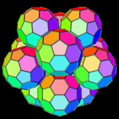 An Icosahedral Cluster of Truncated Icosahedra motion gif