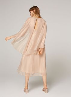 Uterqüe United Kingdom Product Page - Ready to wear - Dresses and Skirts - Frilled shimmer dress - 175 Alternative Wedding Dresses, No Frills, Ball Gowns, Midi Skirt, Duster Coat, Ready To Wear, Cold Shoulder Dress, Skirts, Fabric
