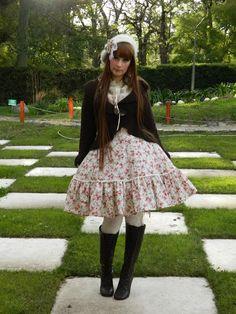 Classic lolita in floral print