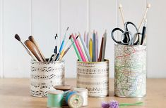 Learn how to make these adorable Decoupage tin pots from new book Makery