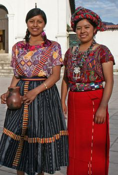Indigenous Guatemalan women in traditional clothing