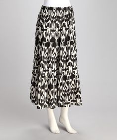 Take a look at this Black & White Tribal Peasant Skirt by Boardwalk Beauty: Women's Dresses on @zulily today!