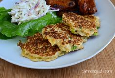 Slimming Eats Cauliflower and Spring Onion Fritters - Dairy Free, Gluten Free, Whole30, Paleo, Slimming World and Weight Watchers friendly