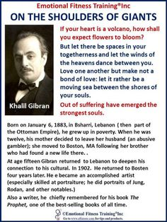 Life and some quotes of Khalil Givron