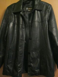 Girls / Women's Black Leather Jacket Size L / Large Excellent Condition Black Leather Bomber Jacket, Womens Black Leather Jacket, Faux Leather Jackets, Leather Pants, Jumpers For Women, Jackets For Women, Clothes For Women, Biker, Girls