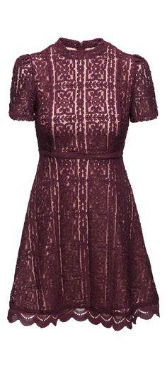 BB Dakota Adelina Mock Neck Lace Dress in Boysenberry / Manage Products / Catalog / Magento Admin