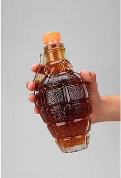 Glass Grenade Decanter