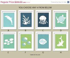 Sea Theme Nursery Ocean Gallery Set of 4 5X7 YOU by UrbanTickle, $23.80