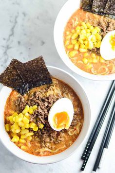 Spicy Miso Ramen with Mince