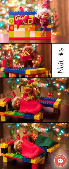 Chasse aux lutins - Sebastian et Rascal se font un lit en blocs Duplo Boxing Day, Elf On The Shelf, Merry Xmas, Wonderful Time, Gift Wrapping, Shelf Ideas, Christmas, Jouer, Celebration