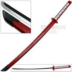 """US STOCK 39/"""" Anime Naruto Sasuke Shirasaya Katana Samurai Sword Weapon Black"""