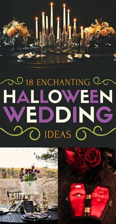 18 Wedding Ideas For People Who Are Obsessed With Halloween