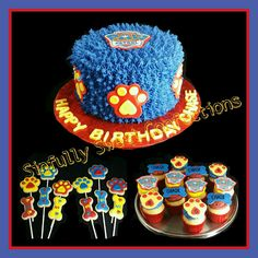 Paw Patrol Birthday Cake, Cookies and Cupcakes