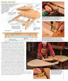 Expanding Table Plans - Furniture Plans