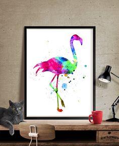 Art flamand, aquarelle, aquarelle Art, Flamingo imprimer, sticker flamant, Art Print, Home Decor, affiche, impression, mur estampes - Art, Art mural, décoration, Art Print, affiche, Illustration, dessin, peinture, aquarelle, oeuvre, FineArtCenter ------------------------------------------------------------------------------------------------ Tailles disponibles sont indiqués dans la sélectionner une taille liste déroulante au-dessus du bouton Ajouter au panier…