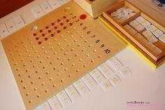 Multiplicando de forma manipulativa - Tablero de multiplicar Montessori, perlas, regletas... | Creciendo con Montessori