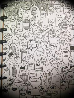 simple cartooning-monsters