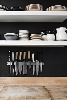 black kitchen wall