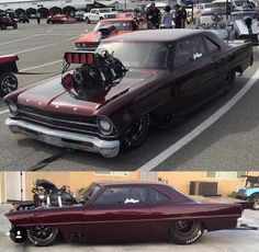 Nova Drag Car Car Engine, Drag Cars, Drag Racing, Fast Cars, Super Cars, Vintage Cars, Muscle Cars, Cool Cars, Chevrolet