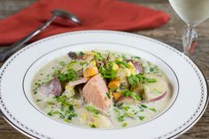 Salmon And Corn Chowder  @ preppings.com