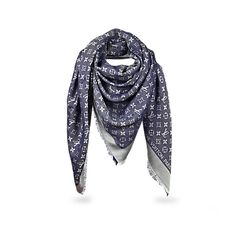 1d575621ba1 Monogram Denim Shawl - - Accessories