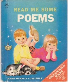 Read Me Some Poems 1968 Marjorie Cooper Rand McNally Elf Book Vintage Poetry for Children