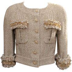 Cruise 2013 Chanel Goldtone Tweed Jacket