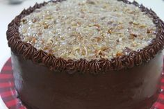 Easy German Chocolate Cake made completely from scratch