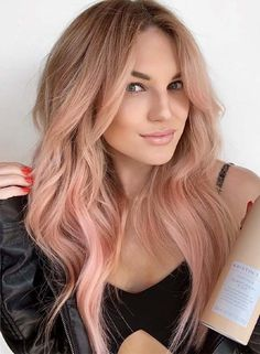22 Glorious Rose Gold Hair Color Shades for 2019  rose gold ombre hair - Ombre Hair #ombre #2019 #OmbreHair