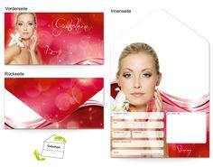 Motiv Gesichtpflege Frau - Gutscheinvorlagen
