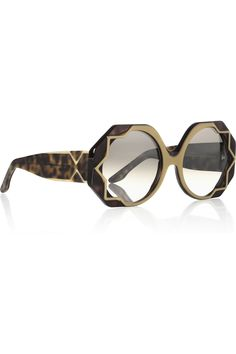 0fadf7eef92 Cutler and Gross - Star-detailed round-frame acetate sunglasses