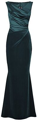 Talbot Runhof Ruched Velvet and Satin Gown on shopstyle.com.au