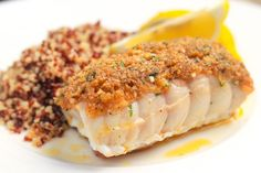 Baked Red Snapper With Garlic and Herbs. How to Make Baked Red Snapper With Garlic and Herbs. This easy red snapper recipe is baked with a simple combination of garlic, butter, seasoned bread crumbs, and Parmesan cheese. Herb Recipes, Baking Recipes, Healthy Recipes, Loaf Recipes, Oven Recipes, Healthy Meals, Seafood Dishes, Seafood Recipes, Salmon Recipes