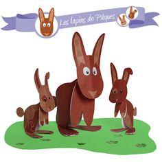Pour occuper les petits (et les grands) enfants pendant le week-end de Pâques et décorer votre maison : téléchargez le modèle de lapin en papiers à construire www.paulinecoupe.fr/cadeau/lapin-a-construire.pdf ! Et n'oubliez pas de partager sur ma page facebook les photos de vos créations : https://www.facebook.com/paulinecoupewebdesign ©Pauline COUPE