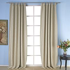 (Two Panels) Casual Embossed Room Darkening Thermal Curtains – USD $ 49.99double pleated $90
