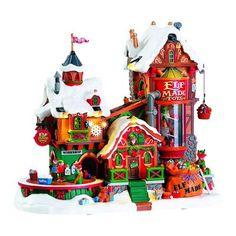 Village Lemax, Lemax Christmas Village, Christmas Villages, Christmas Elf, Christmas Themes, Christmas Ornaments, White Christmas, Christmas Mantles, Christmas Houses