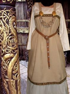 Norse Viking SCA Garb Linen Apron over Muslin by camelots0closet, $62.00