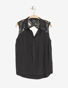 729f2ace5884f Chemise détail sequins noire femme • Jennyfer Vetement Ado Fille, Vetement  Pas Cher Femme,