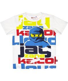 LEGO superb white Ninjago t-shirt with Jay, the blue ninja. lego-wear.en.emilea.be