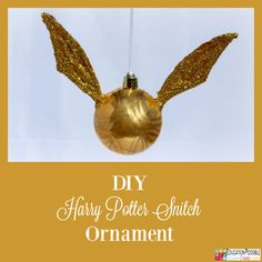 5 Homemade Christmas Ornaments Teens will want to Make - Harry Potter Golden Snitch Ornament  5 Homemade Christmas Ornaments Teens will want to Make. This season, add these to your ornament collection – they're all teen friendly, cost effective and will take little time to complete. DIY crafts - a great idea for gifts your middle school kids can create.