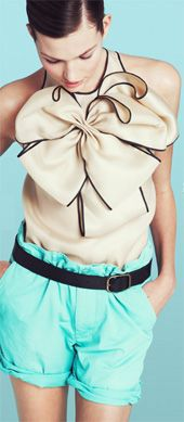 OH J.Crew!!! This is THE most amazing over sized bow shirt.