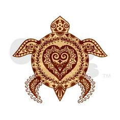 Henna Turtle Hitch Cover on CafePress.com