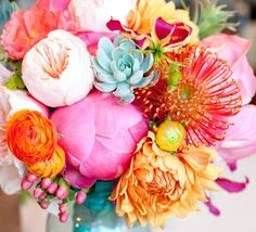peonies and protea