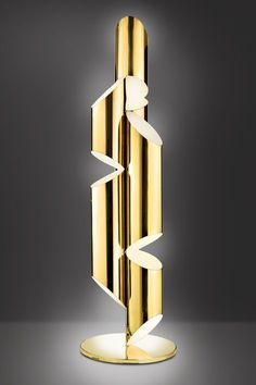Tall Bronze Whistle Lamp, Designed by Laurie Beckerman in 2009