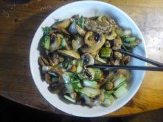 paksoi met paddenstoelen  小菜用蘑菇 | | Goed en gezond eten