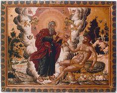 Το άγγιγμα του Θεού. Byzantine Art, Byzantine Icons, Adam And Eve, Sacred Art, Western Art, Illuminated Manuscript, Religious Art, Christian Faith, Fresco