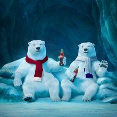 Coca-Cola revives polar bears for Coca Cola Poster, Coca Cola Santa, Coca Cola Polar Bear, Coca Cola Christmas, Pepsi Cola, Vintage Coca Cola, Polar Bear Wallpaper, Coca Cola Pictures, Vintage Christmas