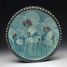 Marcy Neiditz- Turquoise Platter new 2019 Ceramic Art, Decorative Plates, Turquoise, Ceramics, Personalized Items, Platter, Tableware, Inspiration, Hall Pottery