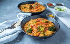 Currysuppe mit Reisnudeln: Ein bisschen Farbe auf dem Suppenteller!